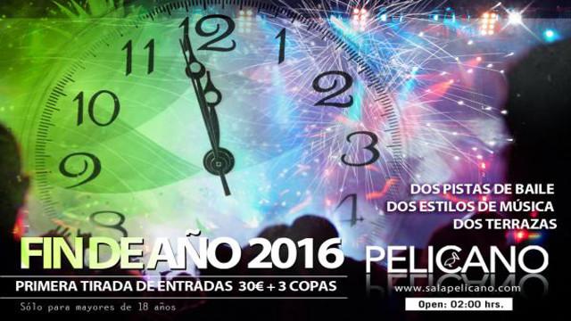Fin de Año 2016 en Sala Pelícano (Galicia)