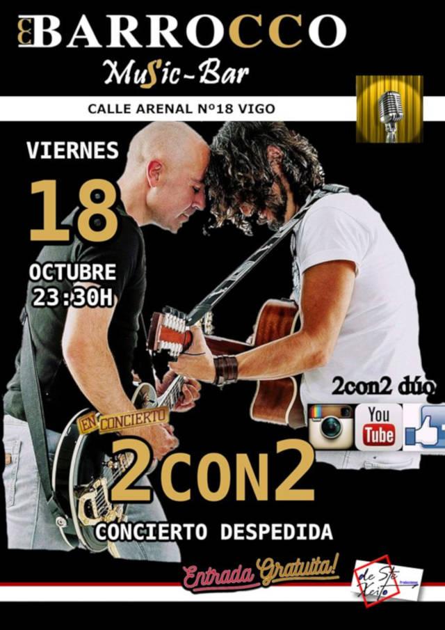 Concierto de 2CON2 en Vigo (Galicia)