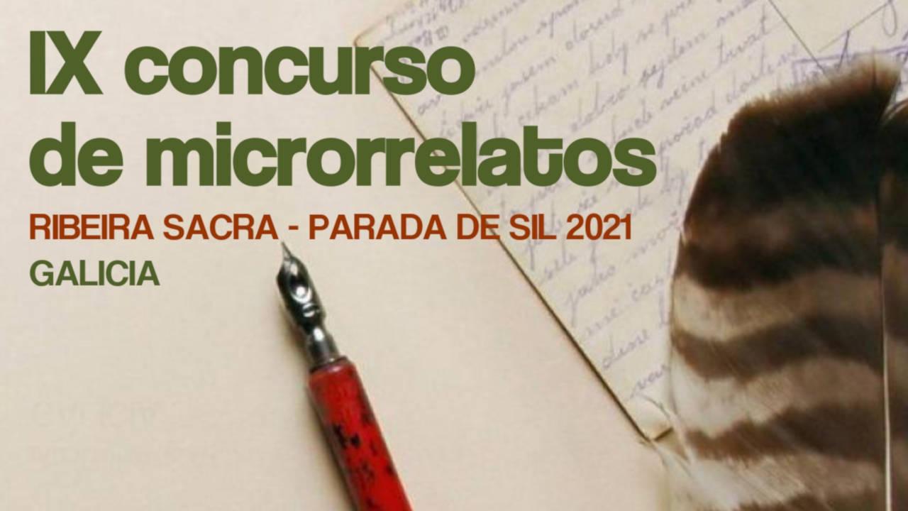 IX Edición del concurso de microrelatos Ribeira Sacra-Parada de Sil 2021 (Concello de Parada de Sil)