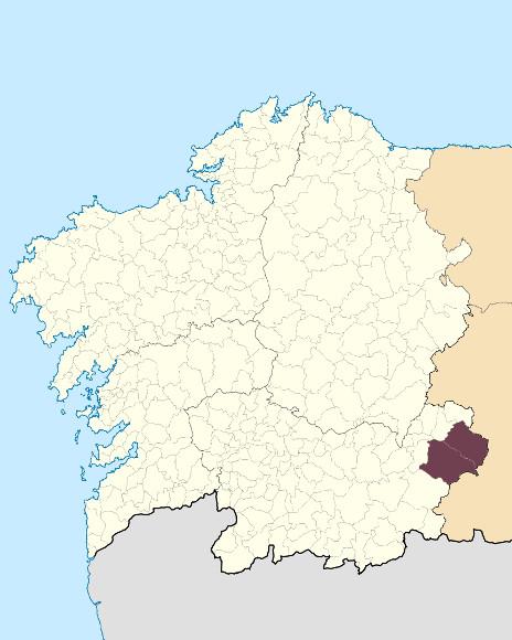 Mapa de situación de Serra do Eixe
