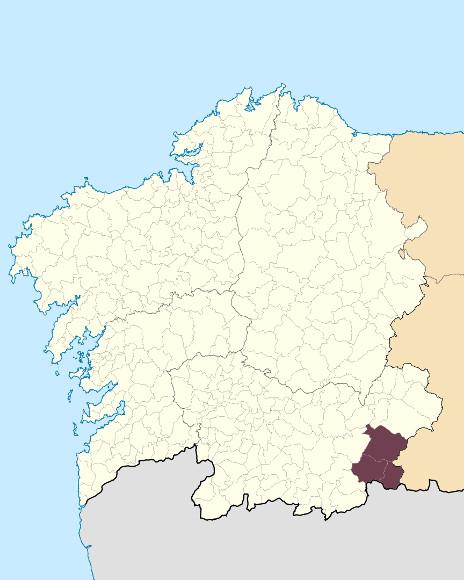 Mapa de situación de Serra Segundeiera