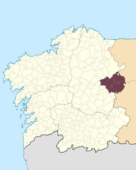 Mapa de situación de Os Ancares Lucenses
