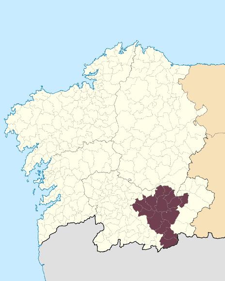 Mapa de situación de Macizo Central Ourensán