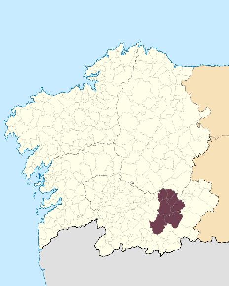 Mapa de situación de Serra de Queixa