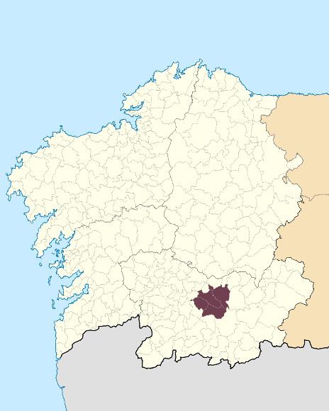 Mapa de situación de Serra de San Mamede