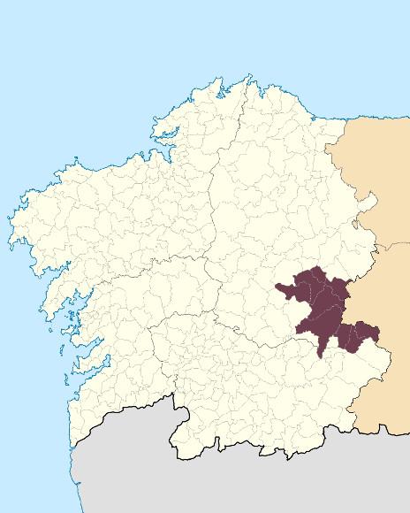 Mapa de situación de O Courel