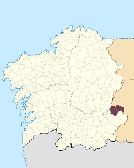 Mapa de situación de Serra da Lastra-Enciña da Lastra