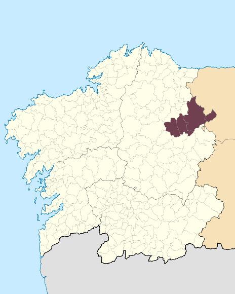 Mapa de situación de Montes da Fonsagrada