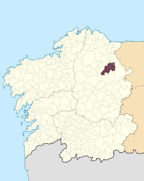 Mapa de situación de Serra de Meira