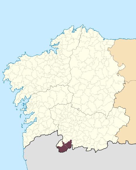 Mapa de situación de Serra do Xurés