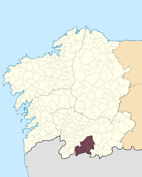 Mapa de situación de Serra do Larouco