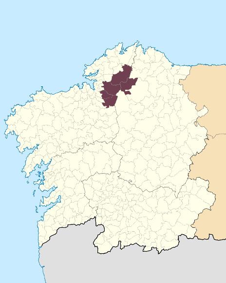 Mapa de situación de Serra da Loba