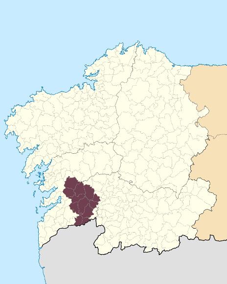 Mapa de situación de Serra do Suído-Faro de Avión
