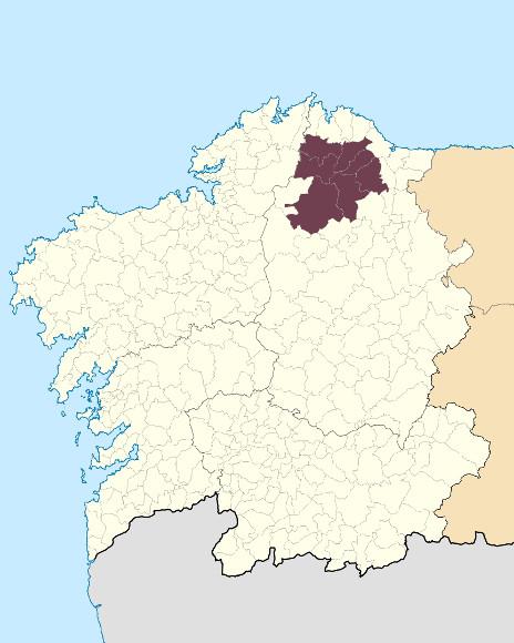 Mapa de situación de Serra do Xistral