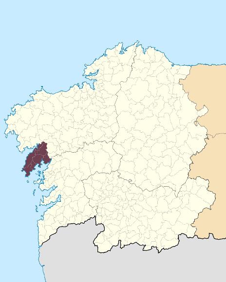 Mapa de situación de Serra da Barbanza