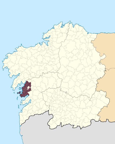 Mapa de situación de Montes do Salnés