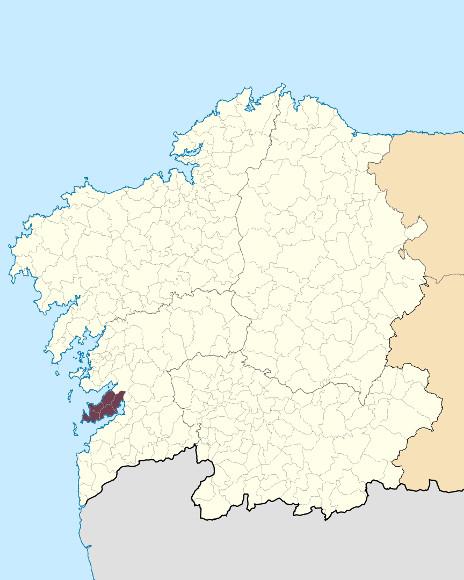 Mapa de situación de Montes do Morrazo