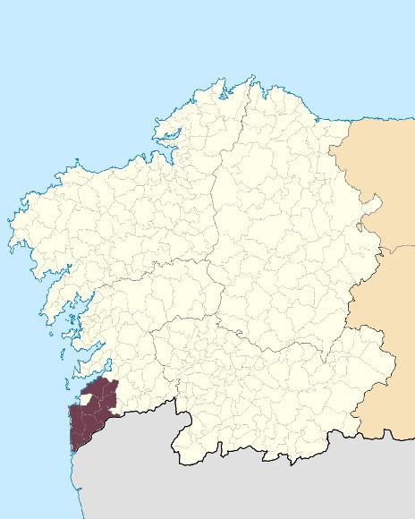 Mapa de situación de Serra do Galiñeiro