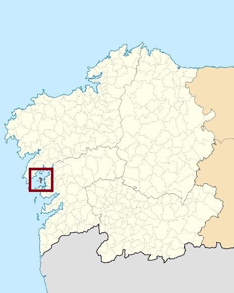 Mapa de situación de Illas da Ría de Arousa