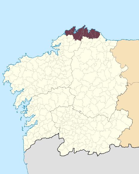 Mapa de situación de Serras Septentrionais