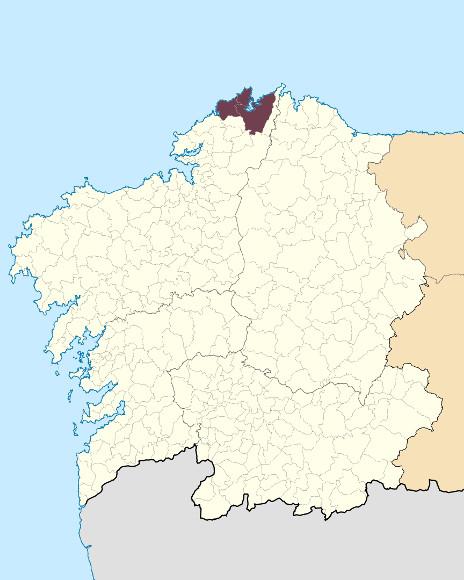 Mapa de situación de Serra da Capelada