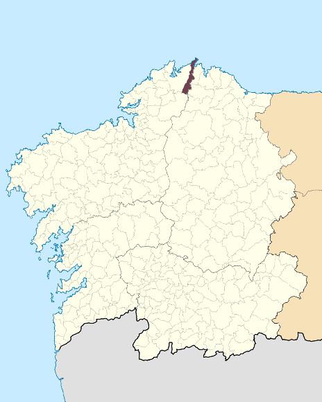 Mapa de situación de Serra da Faladoira