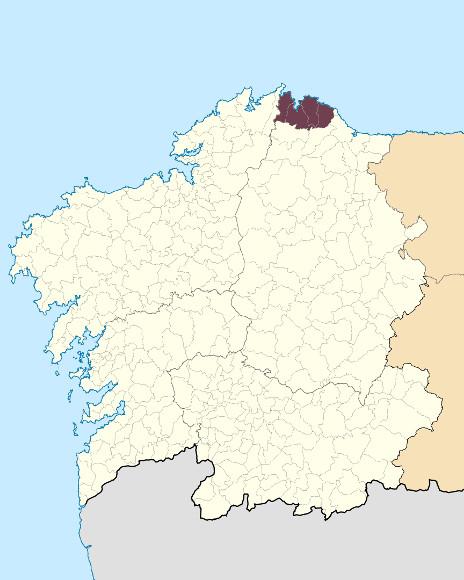 Mapa de situación de Montes dos Cabaleiros