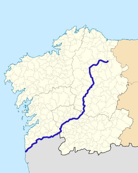 Mapa de situación de Miño
