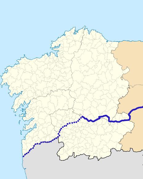 Mapa de situación de Sil