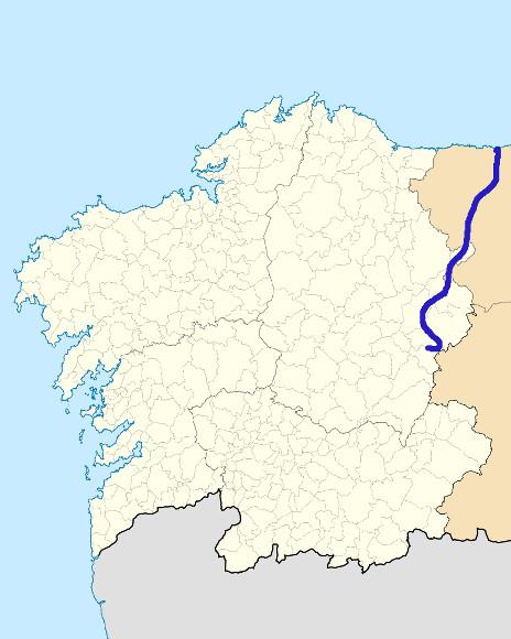 Mapa de situación de Navia