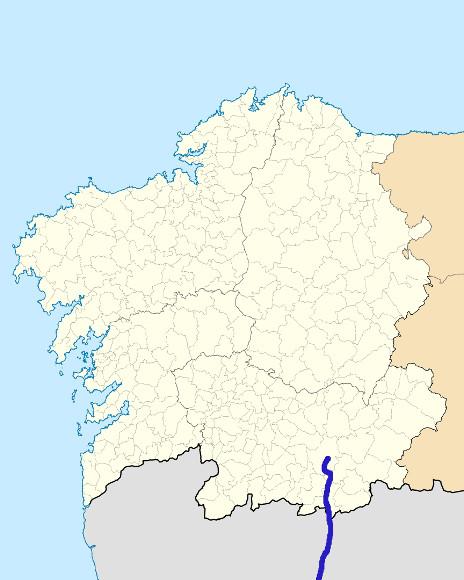 Mapa de situación de Támega