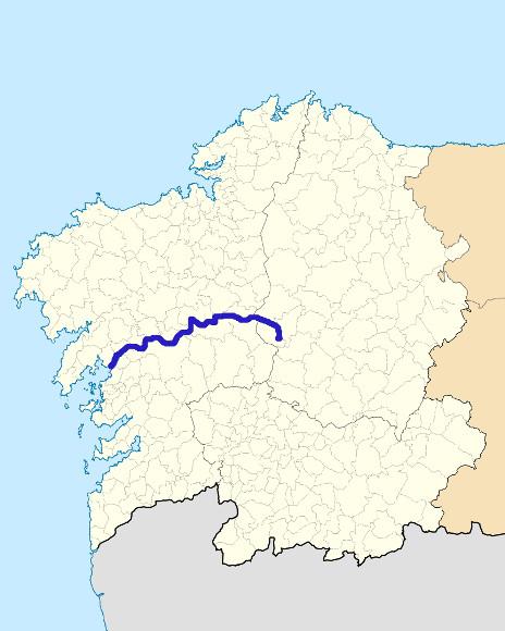 Mapa De Galicia Rios.Rio Ulla Galiceando