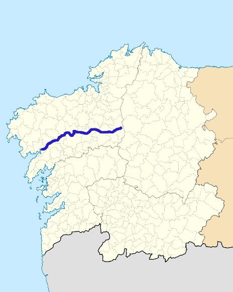 Mapa de situación de Tambre