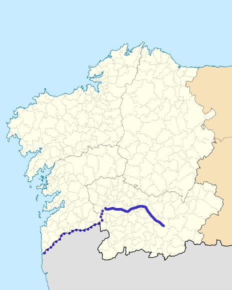 Mapa de situación de Arnoia