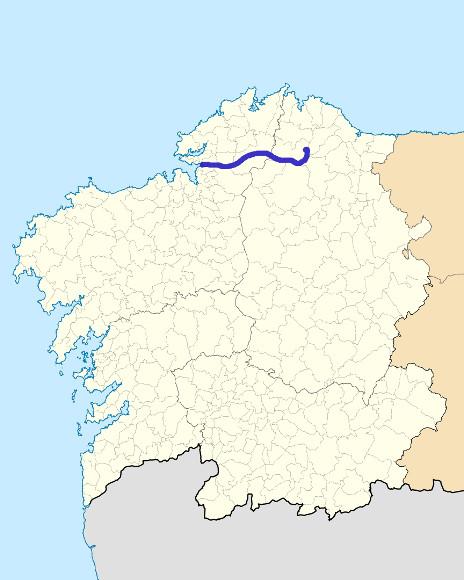 Mapa de situación de Eume