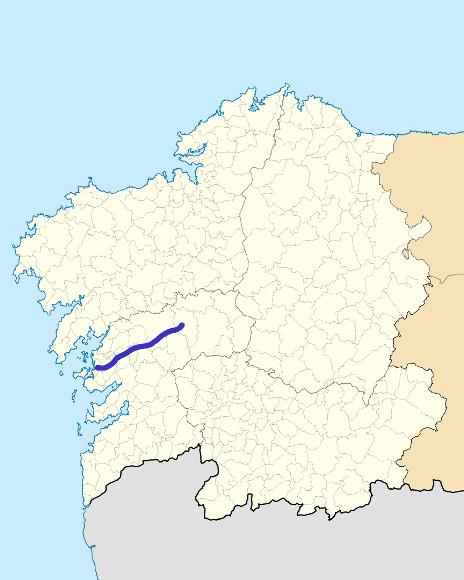 Mapa de situación de Umia