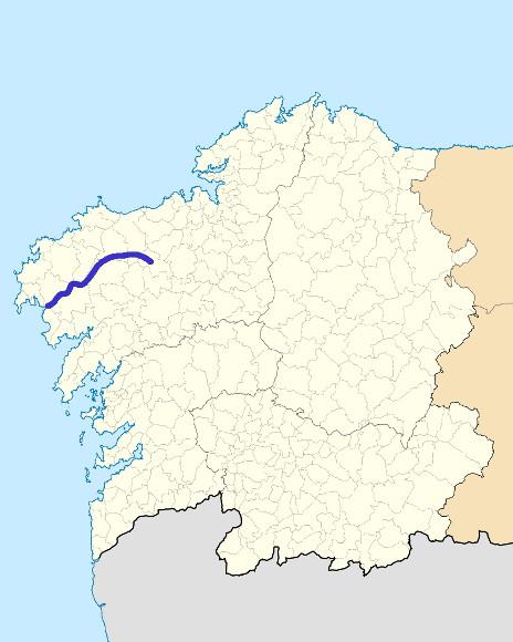 Mapa de situación de Xallas