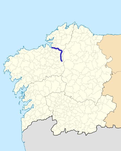 Mapa de situación de Mandeo