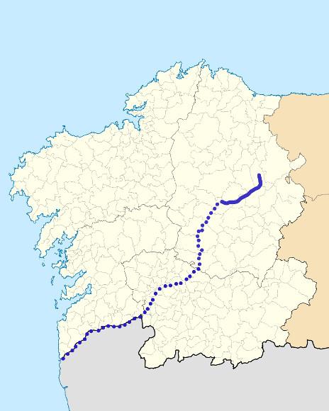Mapa de situación de Neira
