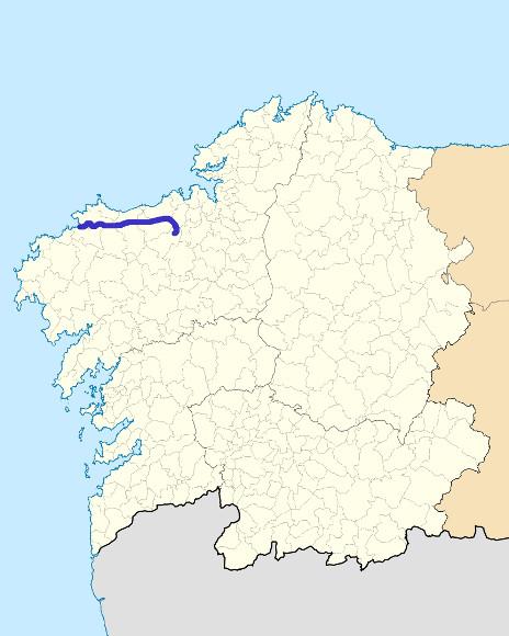 Mapa de situación de Anllóns
