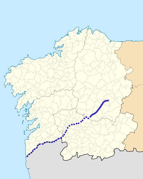 Mapa de situación de Cabe