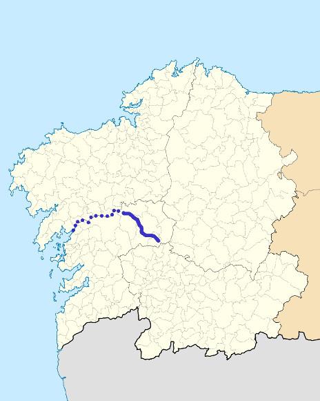 Mapa de situación de Deza