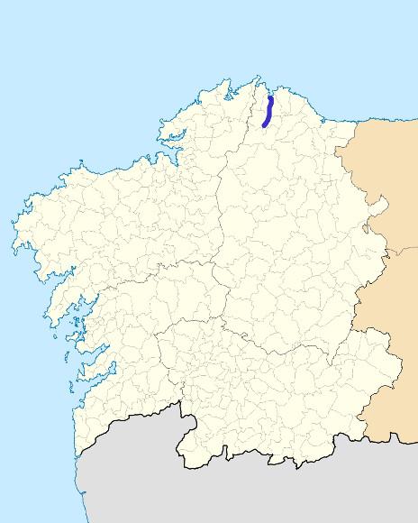 Mapa de situación de Landro