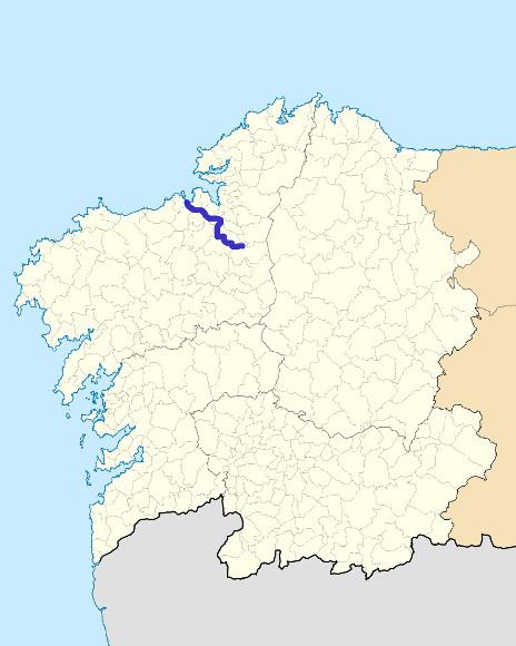 Mapa de situación de Mero