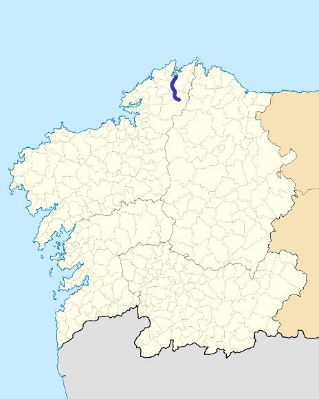 Mapa de situación de Mera