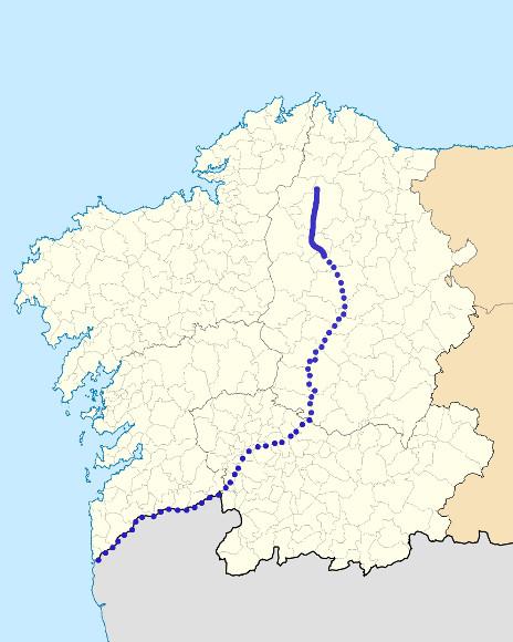 Mapa de situación de Ladra