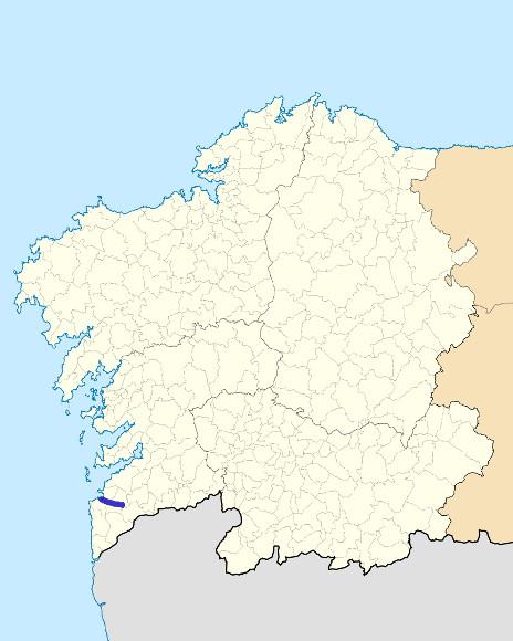Mapa de situación de Miñor