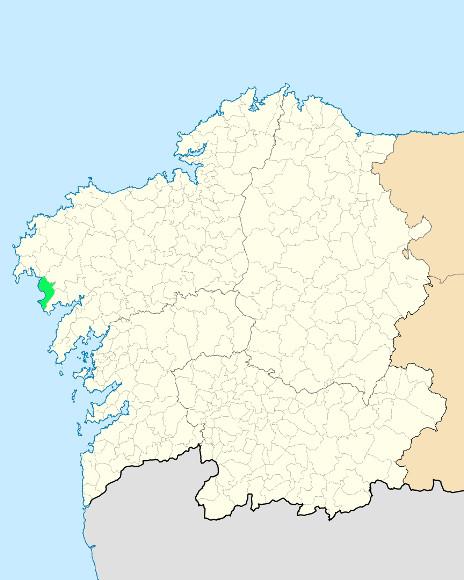 Mapa de situación de Carnota y Monte Pindo