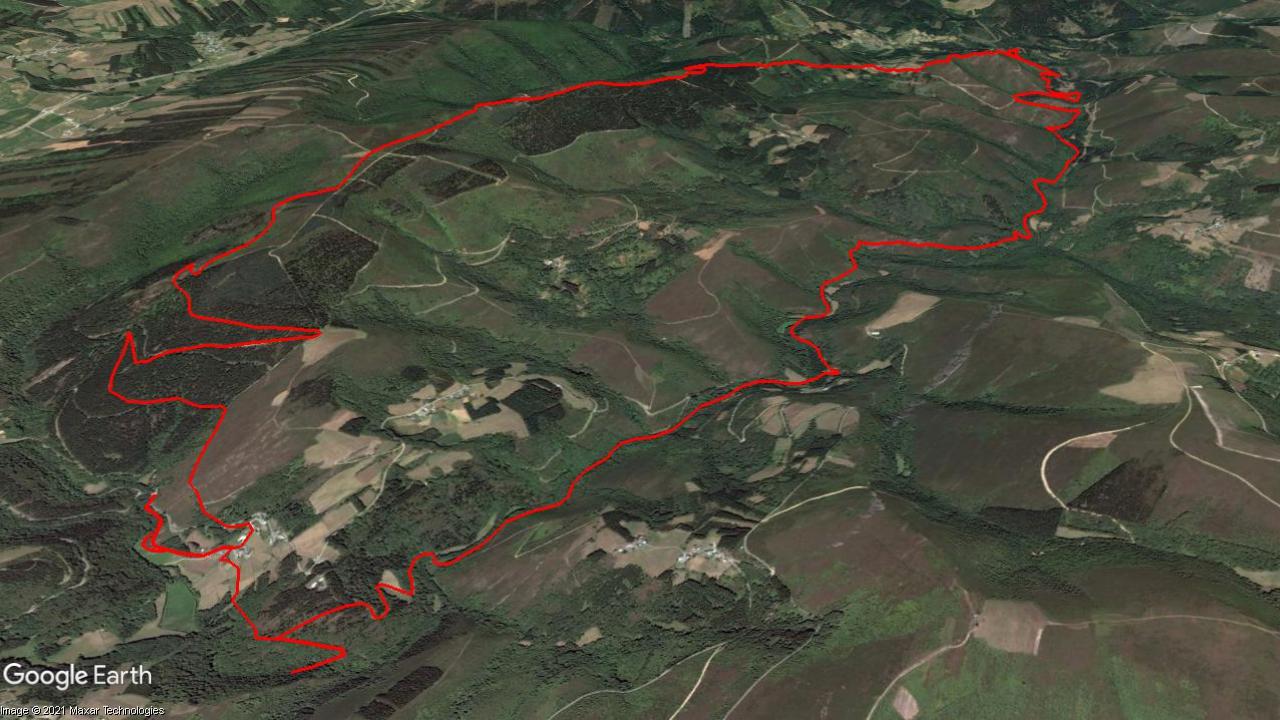 Mapa del recorrido Ruta da Marronda-Alto Eo