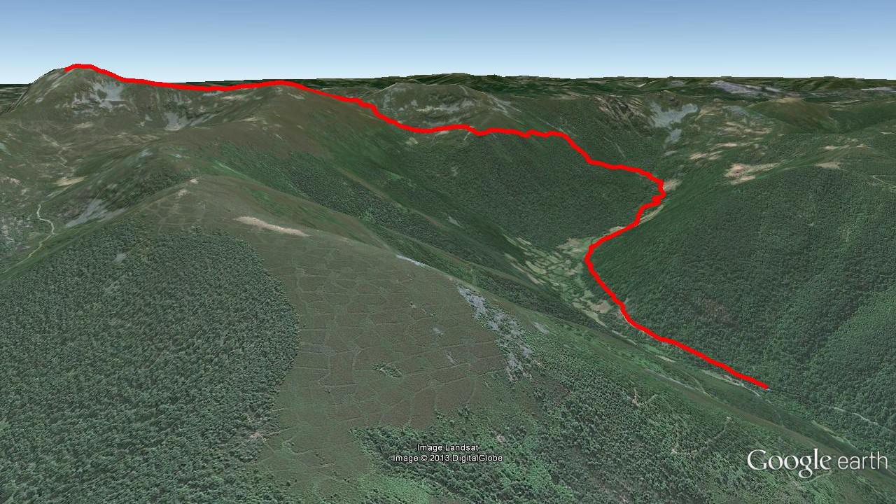 Mapa del recorrido Subida a Mustallar desde A Ponte de Vales